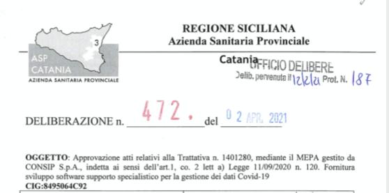 """ASP Catania e il database da 73 mila euro: prima lo acquistano e poi fanno la """"trattativa""""?"""