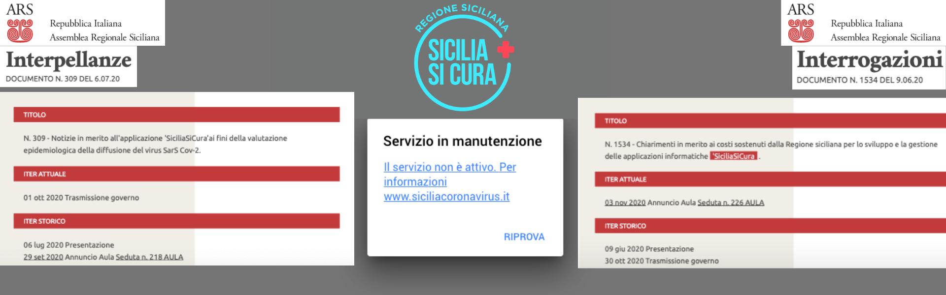 Regione Siciliana, l'app Siciliasicura scomparsa e le interrogazioni dimenticate