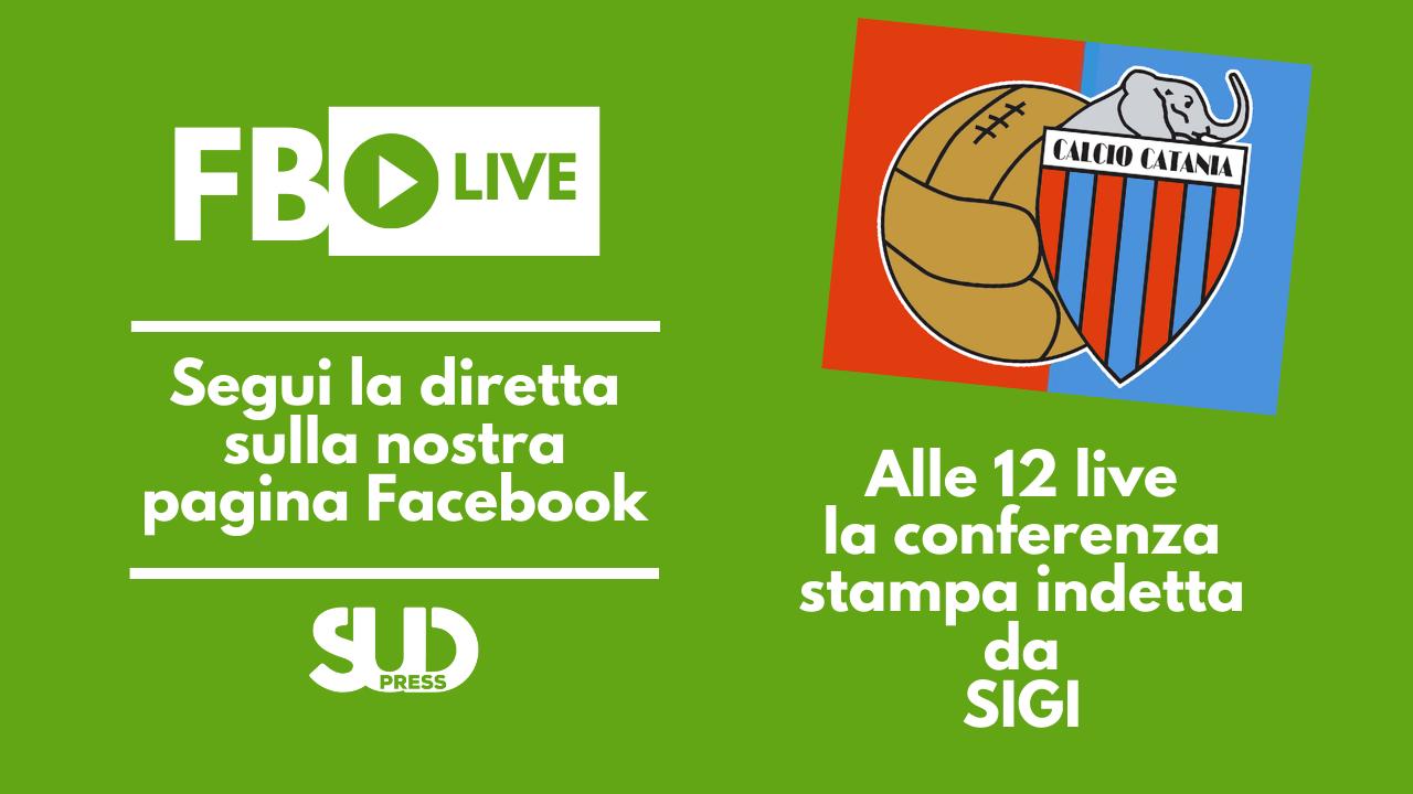Alle 12 diretta della conferenza stampa SIGI-Calcio Catania