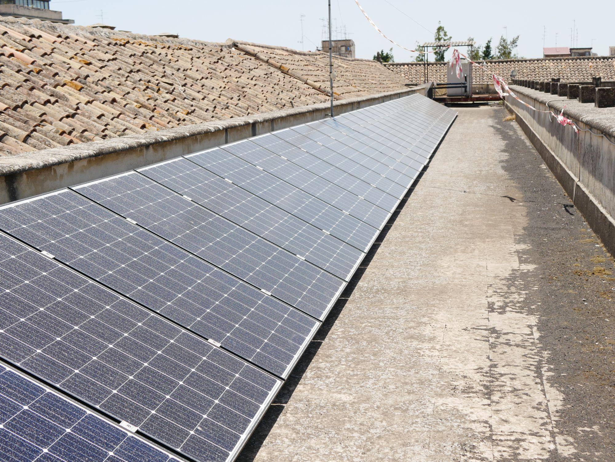 Un parco fotovoltaico rende autonomo l'Ardizzone Gioeni di Catania