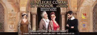 """Dal 9 al 25 luglio all'Ardizzone Gioeni in scena """"Le allegre comari di Windsor"""""""