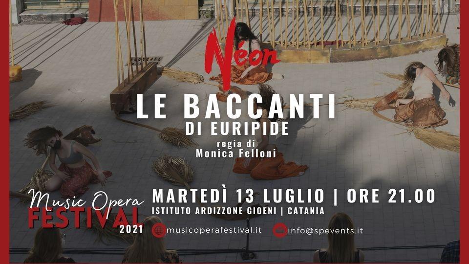 """Martedì 13 luglio all'Ardizzone Gioeni """"Le Baccanti"""", una produzione NEON con lo Spedalieri"""