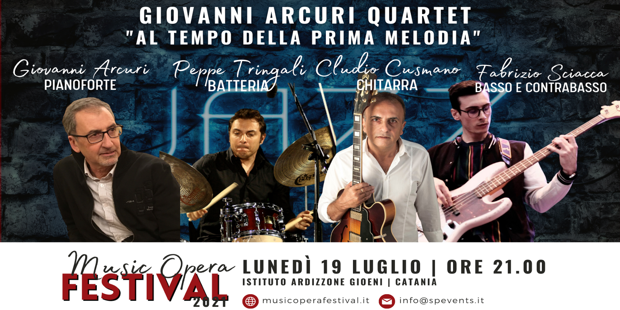 """All'Ardizzone Gioeni strepitoso concerto per il MOF 2021: Giovanni Arcuri Quartet in """"Al Tempo della Prima Melodia"""""""