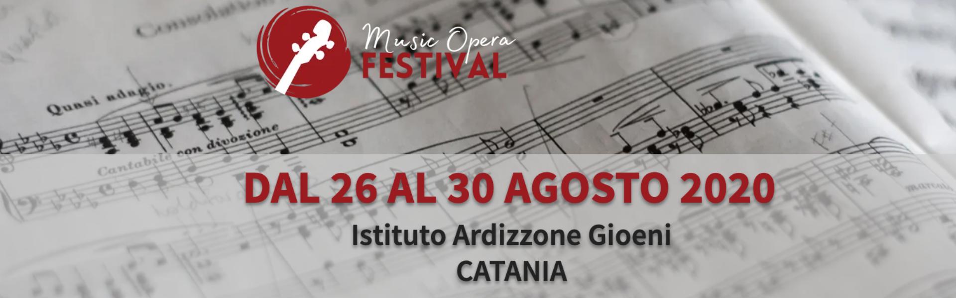 Dal 26 al 30 agosto all'Ardizzone Gioeni il Music Opera Festival