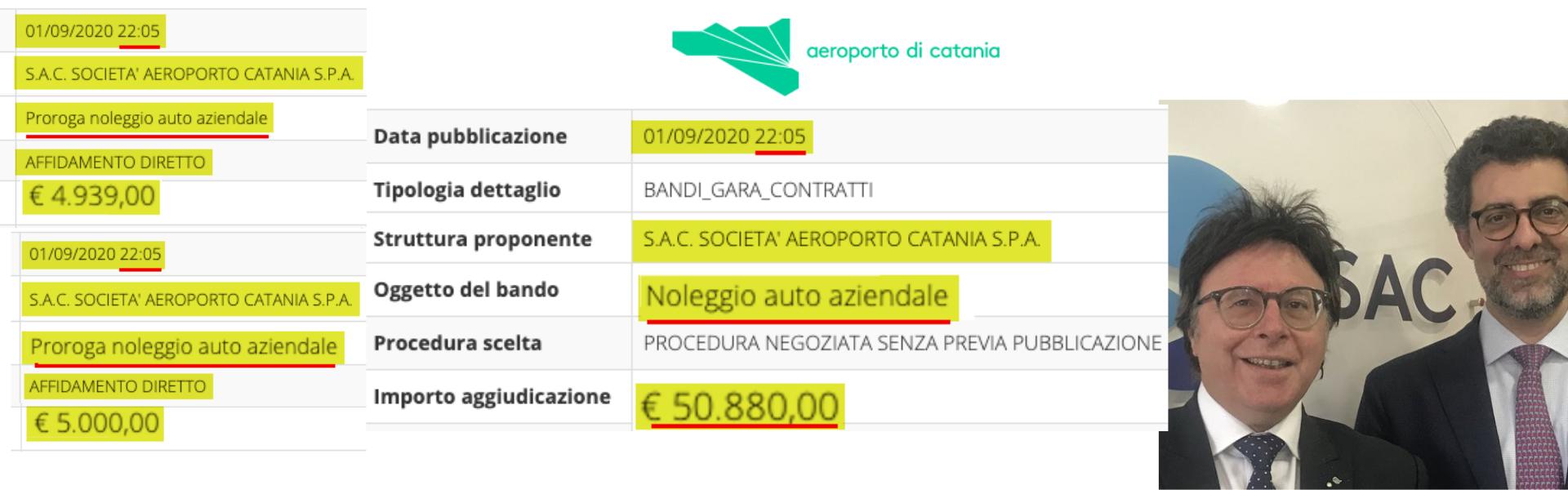 """SAC Aeroporto Catania: 50 mila euro per """"noleggio auto aziendale"""". E i dipendenti in cassa integrazione"""