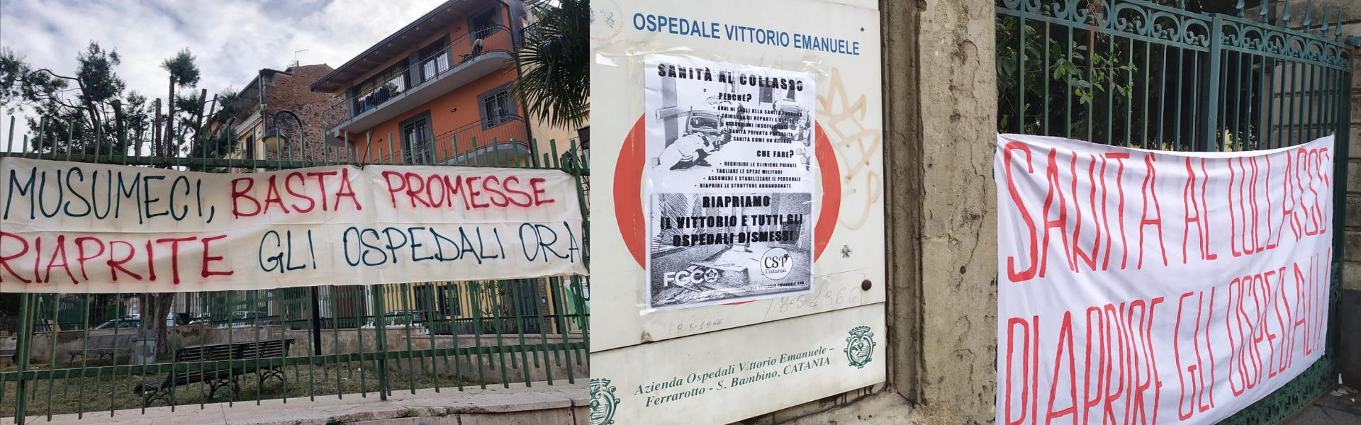 Proteste per la mancata riapertura degli ospedali dismessi